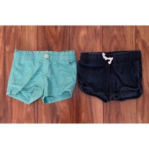 Other - OshKosh teal shorts and Cat and Jack denim shorts